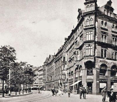 Poststraße - Blickrichtung Johannisplatz - das 2. Haus rechts ist das Reichs-Kaffee