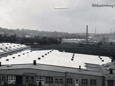 Im Vordergrund die Hallen der Prestowerke - Aufnahme 16.11.1930