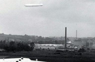Ankunft des Zepplins am 16.November 1930