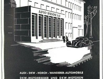 Das Gebäude in einem Inserat von 1942