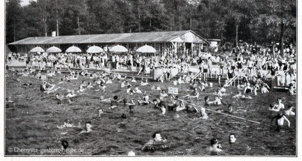 Auch für sportliche Wettkämpfe wurde das Bad genutzt